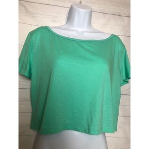 For Ever 21 T-shirt casual green color size Small